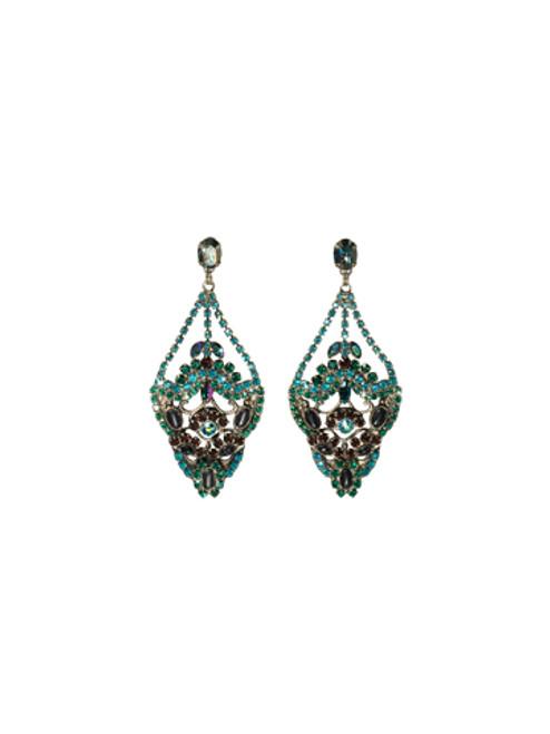 *SPECIAL ORDER* Sorrelli Emerald City  Swarovski Crystal Earrings~EBP20ASEMC