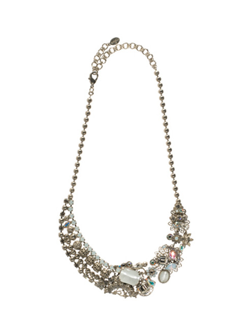 Sorrelli White Bridal Swarovski Crystal Necklace NCD15ASWBR