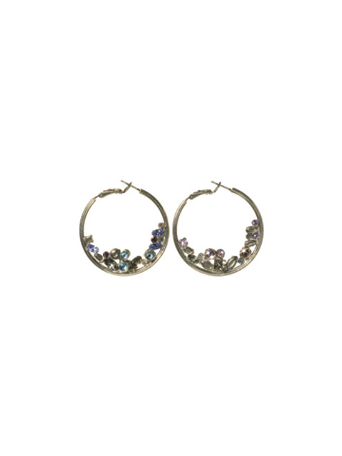 SORRELLI- RHAPSODY FLOATING CRYSTAL HOOP EARRINGS- ECF45ASRHP