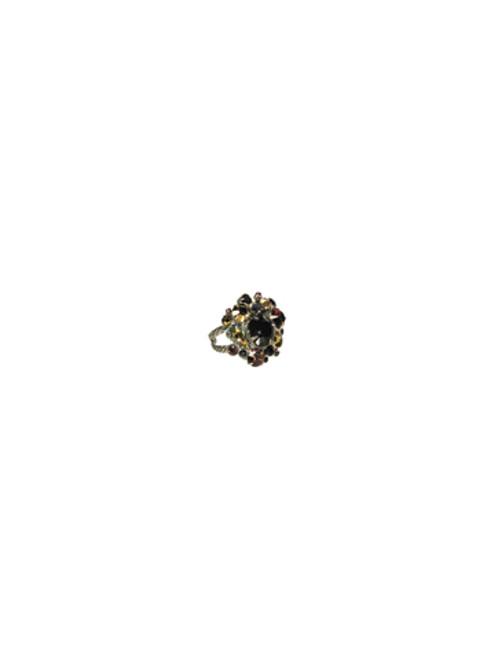 Sorrelli AFTER MIDNIGHT- Bold Crystal Cluster Ring~ RCC1ASAFM
