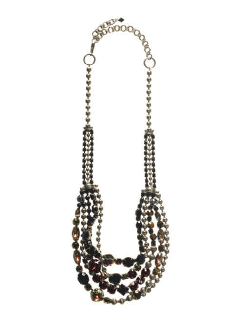 Sorrelli After Midnight- Red Carpet Crystal Layering Necklace- NCK50ASAFM