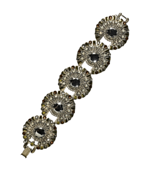 SORRELLI CONCRETE JUNGLE VINTAGE TWIST CRYSTAL BRACELET -BCM1ASCJ