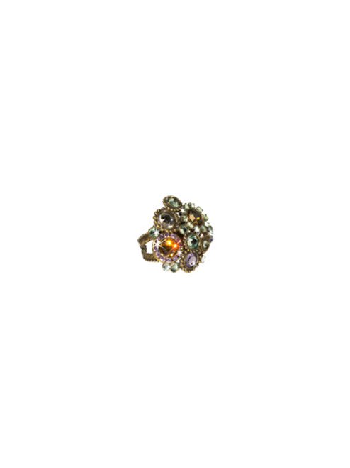 Sorrelli Sweet Dreams - Out Of This World Crystal Cluster Cocktail Ring~ RCE2AGSWD