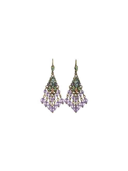 Sorrelli Sweet Dreams - Chandelier Beaded Fringe Earrings~ EBF8AGSWD