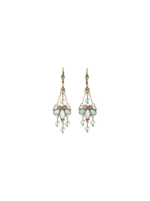 Sorrelli Sweet Dreams- Crystal and Opaque Stone Chandelier Earrings~ ECD34AGSWD