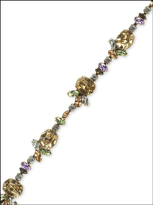Sorrelli Sweet Dreams- Crystal Oval Station Bracelet~ BBN36AGSWD
