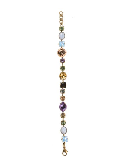 Sorrelli Sweet Dreams- Bold Multi-Shaped Crystal Bracelet~ BBP3AGSWD