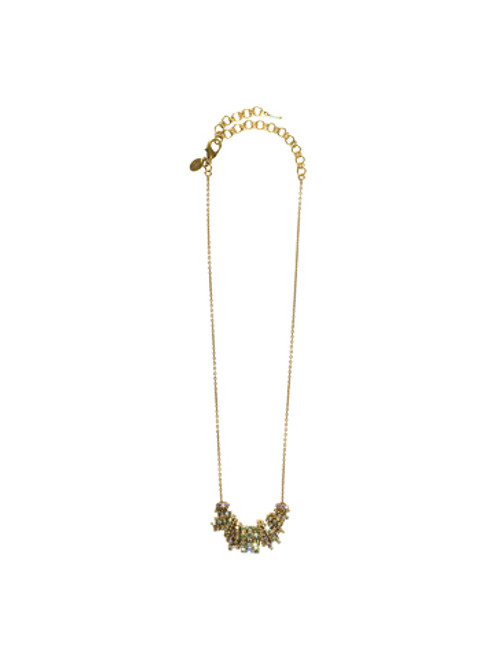 Sorrelli Sweet Dreams- Unique Crystal Lined Ring Necklace~ NCE6AGSWD