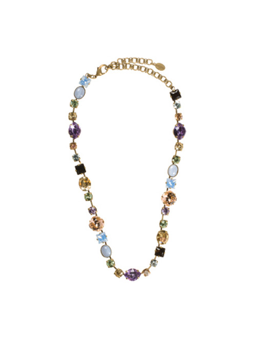 Sorrelli Sweet Dreams- Bold Multi-Shaped Large Crystal Necklace~ NBP3AGSWD