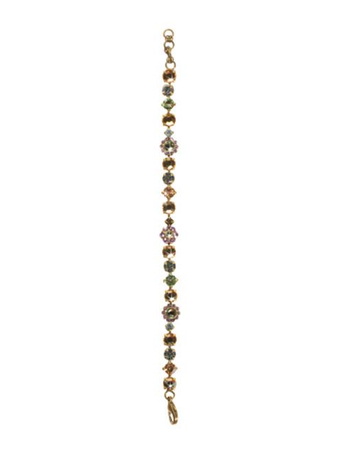 Sorrelli Sweet Dreams- Classic Floral Crystal Tennis Bracelet~ BBE2AGSWD