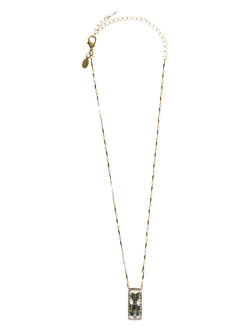 Sorrelli Sweet Dreams - Shimmering Crystal Baguette Necklace~ NCC55AGSWD