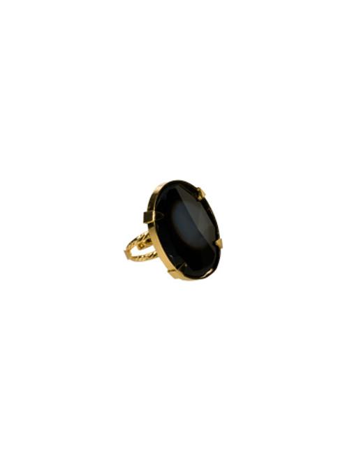 Sorrelli AZTEC- Large Black Agate Cocktail Ring~ 4RH9BGAZT