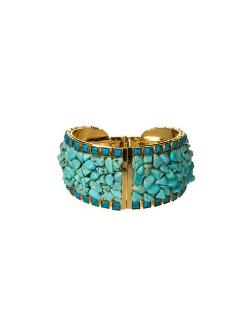 Sorrelli AZTEC- Turquoise Hinged Cuff Bracelet~ 4BH1BGAZT