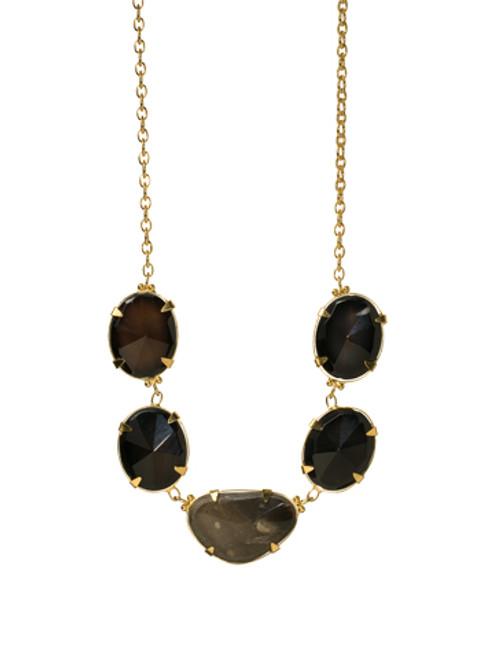 Sorrelli AZTEC- Black Agate Long Strand Necklace~ 4NH9BGAZT