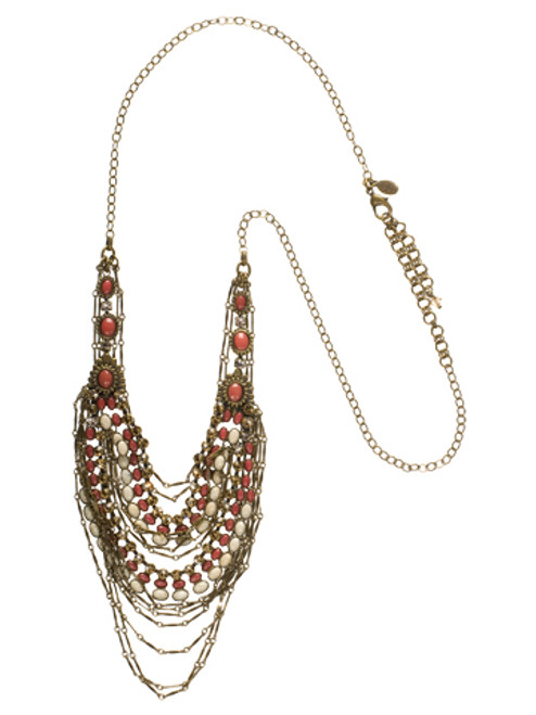 Sorrelli Andalusia- Loads of Layers Bib Necklace~ NCL8AGAND