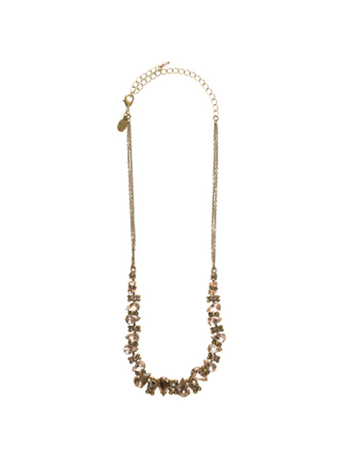 Sorrelli Andalusia- Alternating Crystal Teardrop Necklace~ NCK13AGAND