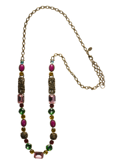 SORRELLI- HIBISCUS CRYSTAL LONG STRAND NECKLACE-NCL4AGHIB