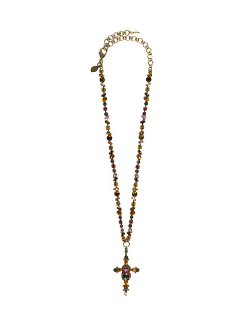 SORRELLI- HIBISCUS COLLECTION- CRYSTAL PENDANT NECKLACE-NBN22AGHIB