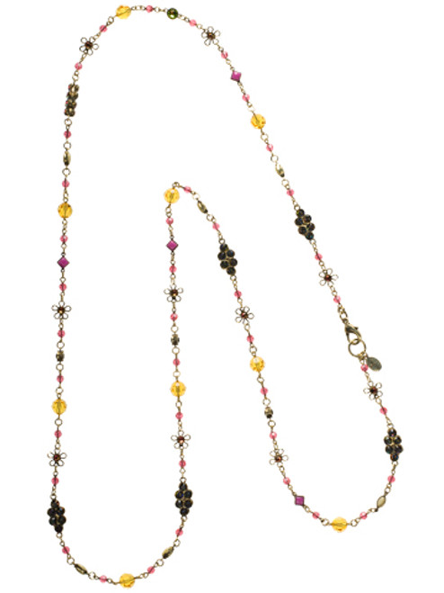 SORRELLI- HIBISCUS CRYSTAL LONG STRAND NECKLACE-NBN122AGHIB