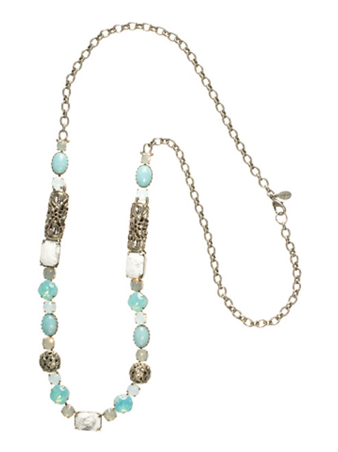 SORRELLI AEGEAN SEA CRYSTAL NECKLACE NCL4ASAES