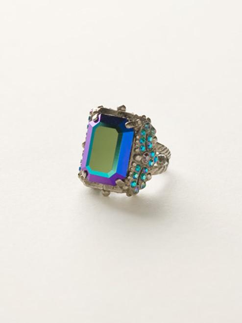 Sorrelli Emerald City- Snowflake Crystal Cocktail Ring~ RCK2ASEMC