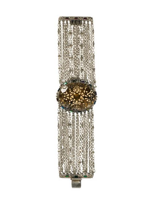 Sorrelli Emerald City-Draped Chain and Filigree Bracelet~ BCK7ASEMC