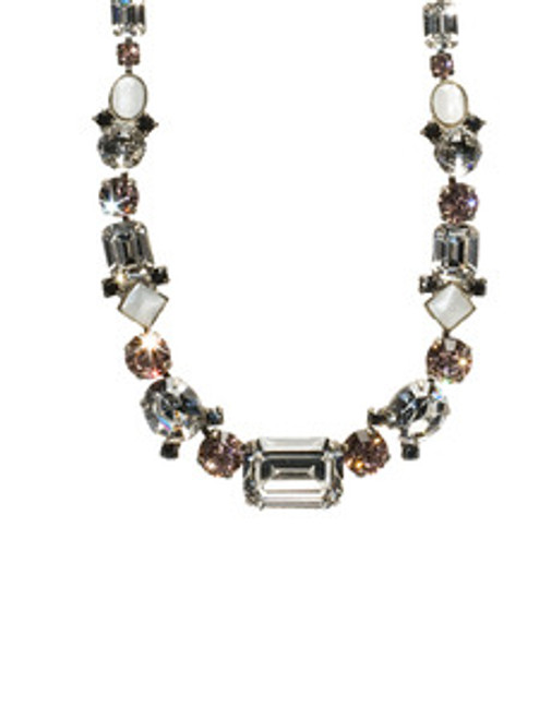 SORRELLI FRENCH BLUSH CRYSTAL NECKLACE NCF9ASFB