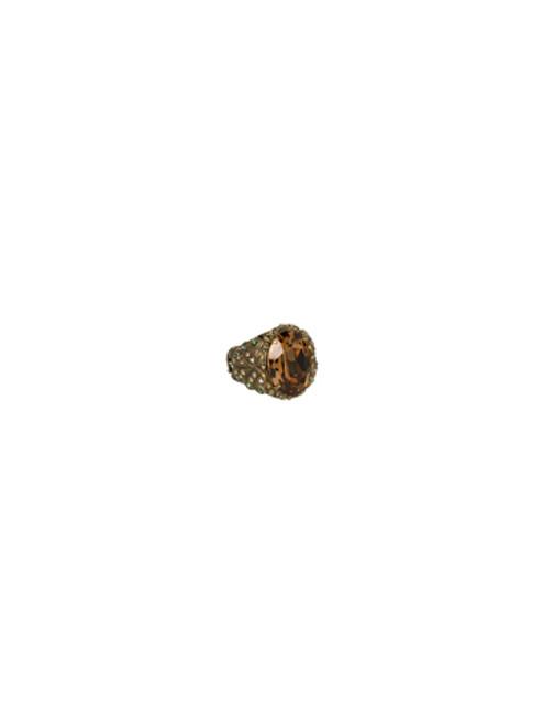 Sorrelli Water Lily- Solar Sparkle Ring- RCJ2AGWL