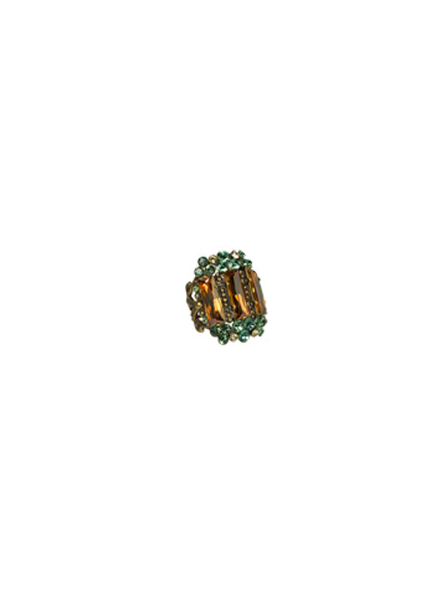 Sorrelli Water Lily- 360 Mirror Ring- RCJ63AGWL