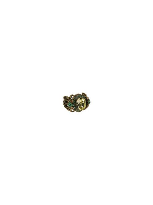 Sorrelli Water Lily - Double Loop Crystal Stardust Ring- RCJ8AGWL