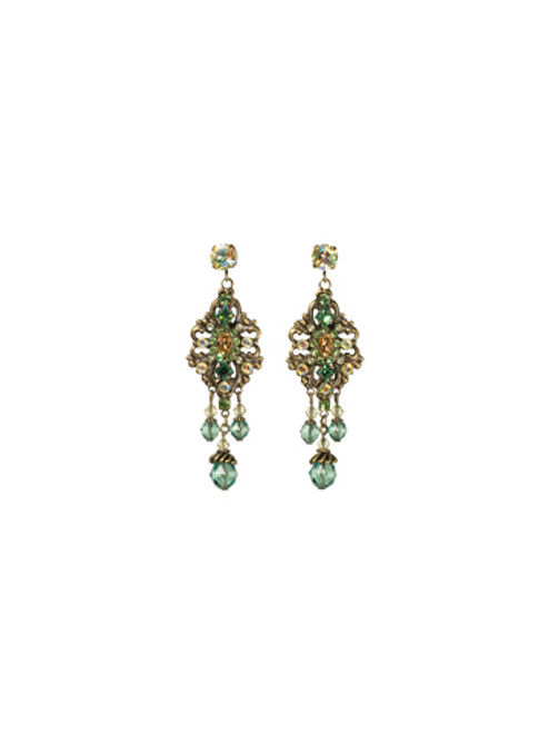 Sorrelli- Water Lily- Double Loop Filigree Chandelier Earrings- ECJ33AGWL
