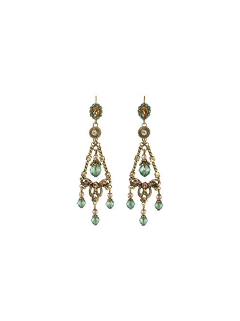 Sorrelli- Water Lily- Double Loop Chandelier Earrings~ ECJ59AGWL