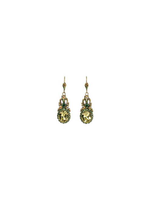 Sorrelli -Water Lily- Stardust Drop Earrings ~ ECJ8AGWL