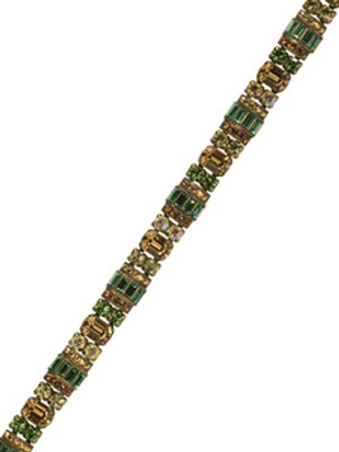 Sorrelli Water Lily- Detailed Baguette and Octagon Crystal Line Bracelet~ BBZ44AGWL