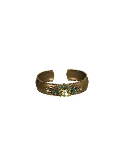 Sorrelli Water Lily- Double Loop Crystal Stardust Cuff Bracelet- BCJ8AGWL