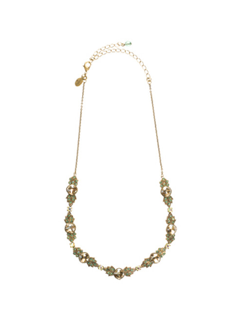 Sorrelli Water Lily- Crystal Petal Necklace~ NCJ5AGWL
