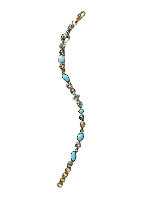 Sorrelli Azure Allure- Crystal and Cabochon Tennis Bracelet~ BAQ3AGAZ