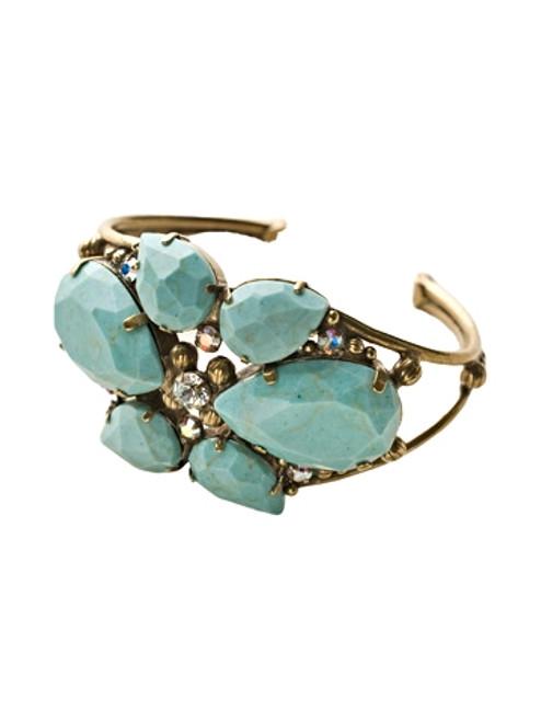 Sorrelli Azure Allure- Secret Garden Cuff Bracelet~ BCP1AGAZ