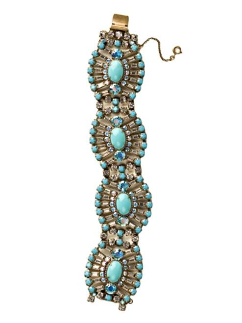 Sorrelli Azure Allure- Gleaming Oval Layered Bracelet~BBZ48AGAZ