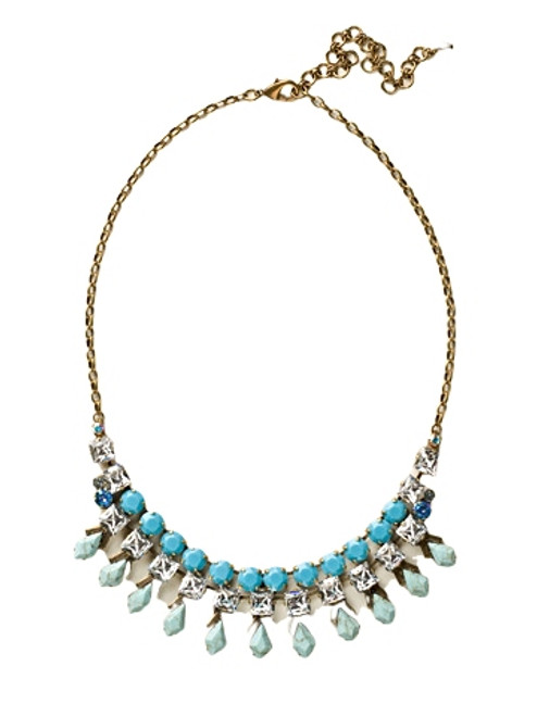 Sorrelli Azure Allure- Belle of the Ball Bib Necklace~ NCQ1AGAZ