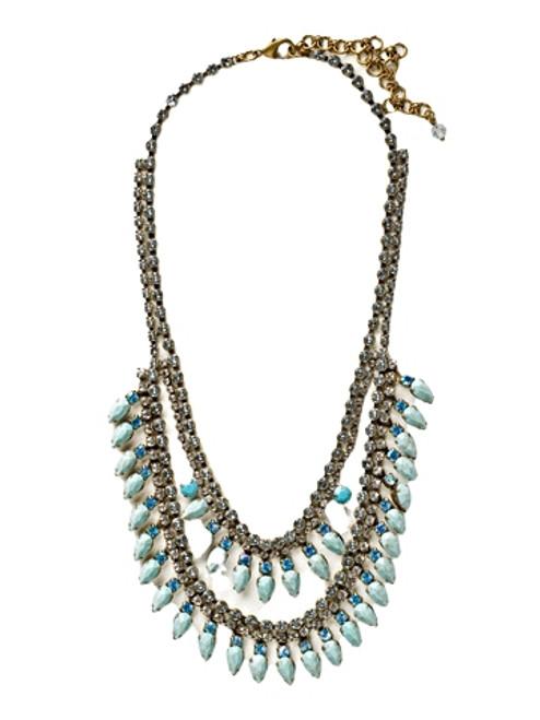 Sorrelli Azure Allure- Twin Layered Statement Necklace~ NCU21AGAZ