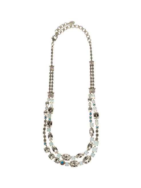 Sorrelli White Bridal Swarovski Crystal Necklace NCC1ASWBR