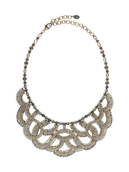 Sorrelli White Bridal Swarovski Crystal Necklace NBW10ASWBR