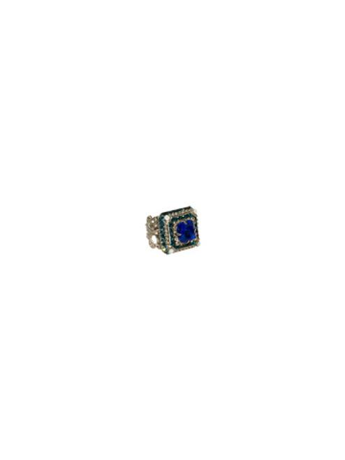 Sorrelli Electric Blue- Pyramid Crystal Ring~ RCG9ASEB