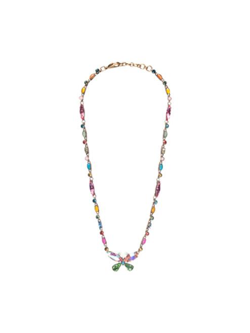 Sorrelli Happy Birthday Swarovski Crystal Necklace NBE16AGHB