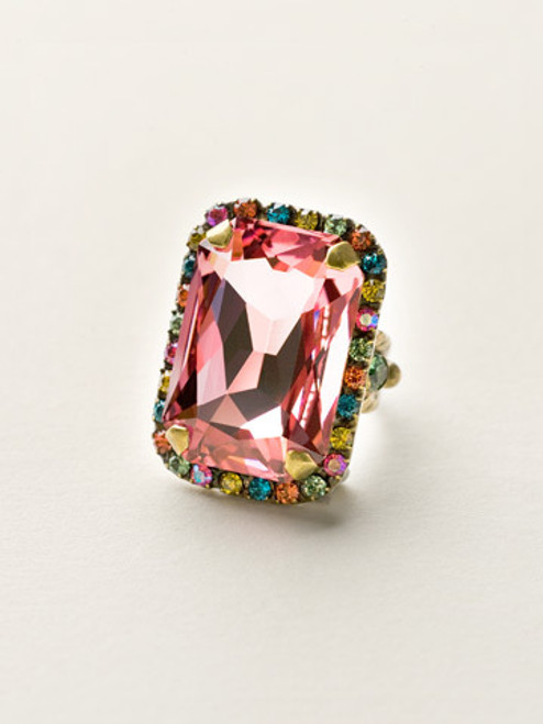 pretty pastel colors Crystal Ring
