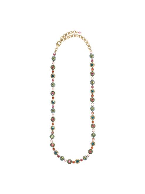 Sorrelli Happy Birthday Crystal Necklace NCG2AGHB