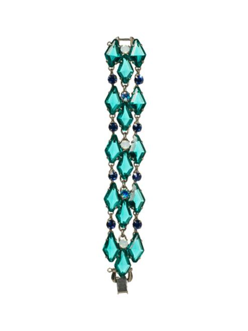 Sorrelli Electric Blue- Add Some Flare Triple Line Bracelet~ BCG23ASEB