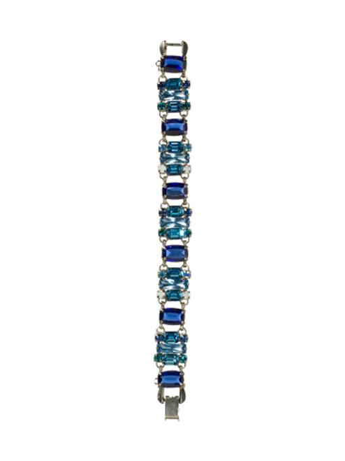 Sorrelli Electric Blue- Train of Crystals Line Bracelet~ BCG19ASEB