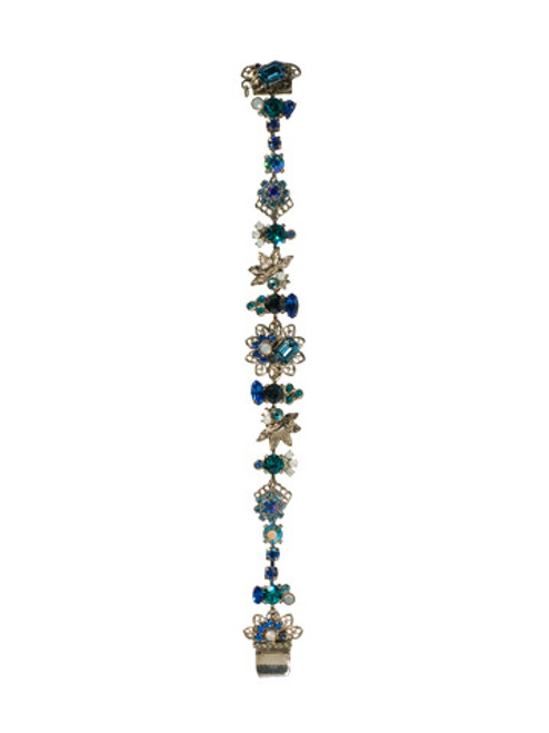 Sorrelli Electric Blue-Fresh Floral Bracelet~ BCD1ASEB